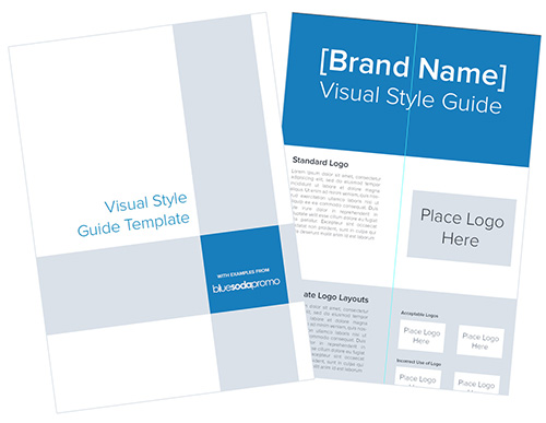 Visual Style Guide Template for Logos - Blue Soda Promo Blog