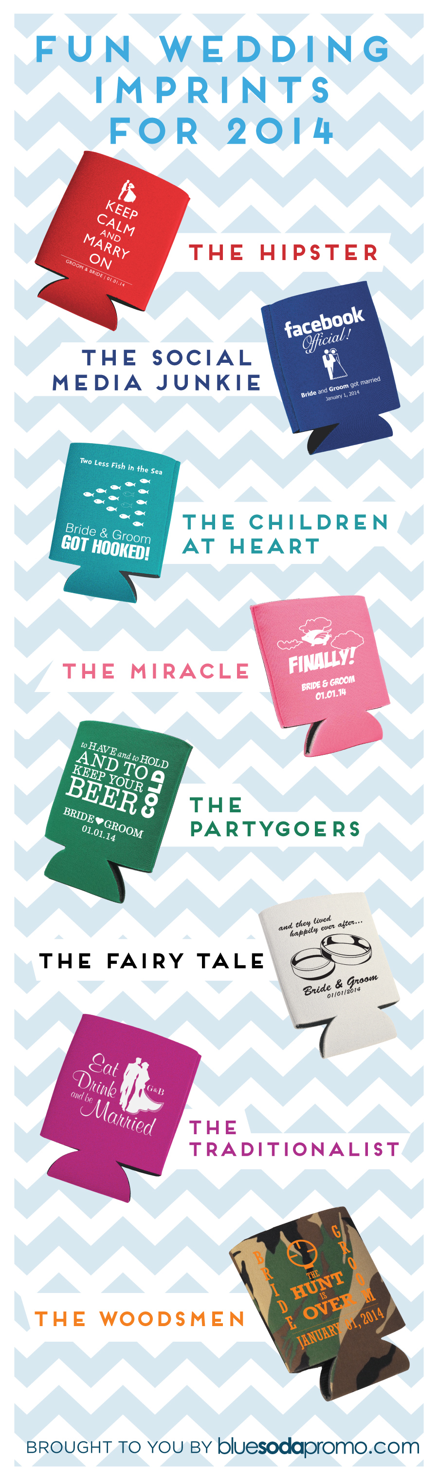 8 Fun Wedding Favor Imprints for 2014 - Blue Soda Promo Blog