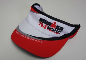 A visor from Ironman Budapest