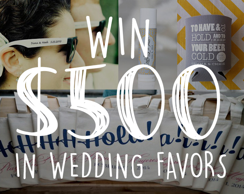 Enter To Win 500 In Customized Wedding Favors